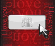 Speed dating button sign concept illustration Stock Photos
