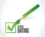 speed dating check mark sign concept illustration Royalty Free Stock Image