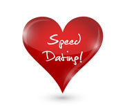 speed dating heart sign concept Royalty Free Stock Photos