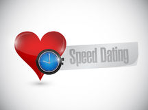 Speed dating heart watch sign concept Royalty Free Stock Photos