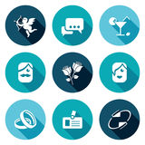 Speed dating Icons Set. Vector Illustration Royalty Free Stock Image