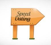 Speed dating wood sign concept illustration design Stock Photography
