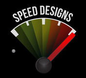 Speed design speedometer Royalty Free Stock Images