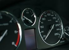 Speed Dial. A photo of a speed dial in a car Royalty Free Stock Photos