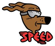 Speed dog Royalty Free Stock Image