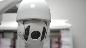 Speed dome camera in work stock footage