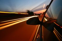 Speed drive royalty free stock photos