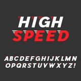 Speed. Dynamic Italic Font Stock Photography