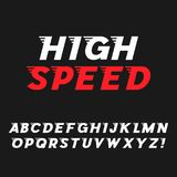 Speed. Dynamic Italic Font Stock Images