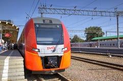 Speed electric train Siemens Desiro RUS  Stock Photo