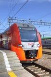 Speed electric train Siemens Desiro RUS Lastochka (Moscow - Nizhny Novgorod) at Kursky Railway Station. Royalty Free Stock Photography