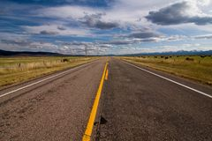 Speed empty highway Royalty Free Stock Images