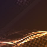Speed energy swoosh wave dynamic line. Abstract background particle layout. Vector illustration Stock Photos