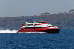 Speed ferry boat Stock Image