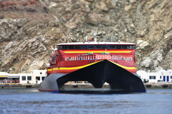 Speed ferry boat Stock Images