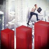 Speed financial climbing Stock Image