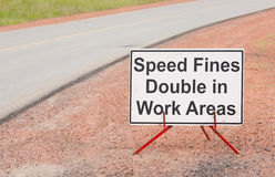 Speed Fine Sign Royalty Free Stock Image
