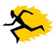 Speed fire run Stock Image