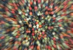 Speed focus in the center effect acceleration line rays blur effect blur mix black green red pepper culinary background stock image