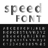 Speed font Stock Photos