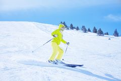 Speed, fun, ski Stock Photography