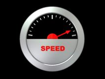 Speed gauge Royalty Free Stock Photo