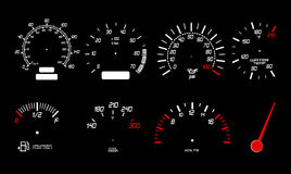 Speed gauge icons Royalty Free Stock Photo
