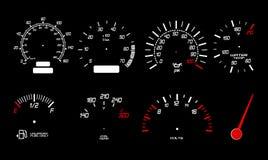 Speed gauge icons Royalty Free Stock Photo