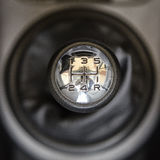 5 speed gear. Beautiful metallic speed gear in a car Stock Photos