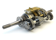 Speed gearbox on isolated Stock Photography