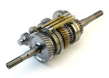 Speed gearbox on isolated Royalty Free Stock Photography