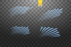 Speed glow blue lines isolated. Set of motion signs. Vector illustration. Eps 10 Royalty Free Stock Image