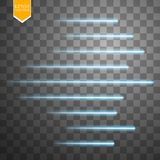 Speed glow lines . Set of motion signs. Vector illustration. Eps 10 Royalty Free Stock Photos