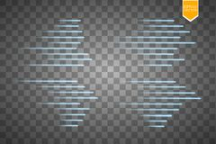 Speed glow lines . Set of motion signs. Vector illustration. Eps 10 Stock Photos