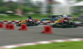 Speed go-cart racing Royalty Free Stock Images