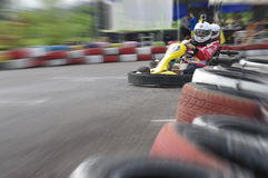 Speed go-cart racing Stock Images