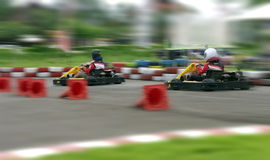 Speed go carting, abstract fast Royalty Free Stock Photography