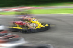 Speed go carting Royalty Free Stock Photography