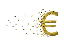 Speed gold euro and cash. path included Royalty Free Stock Photography