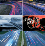 Speed highway collage Royalty Free Stock Photo