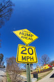 Speed Hump Ahead Sign Stock Photo