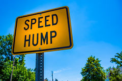 Speed Hump Royalty Free Stock Photography