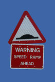 Speed hump sign Stock Image