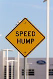Speed Hump Sign Stock Images