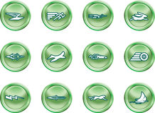 Speed Icon Set Series Design E Stock Photos