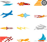 Speed Icon Set Series Design Elements Royalty Free Stock Images