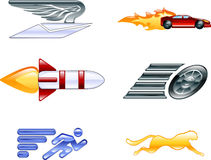 Speed Icon Set Series Design Elements Royalty Free Stock Photos