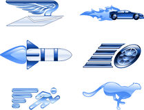 Speed Icon Set Series Design Elements Royalty Free Stock Image