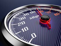 Speed of  internet connection Stock Photos