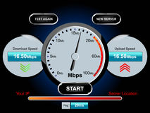 Speed internet test Royalty Free Stock Photo